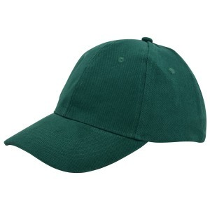 Brushed twill cap donkergroen