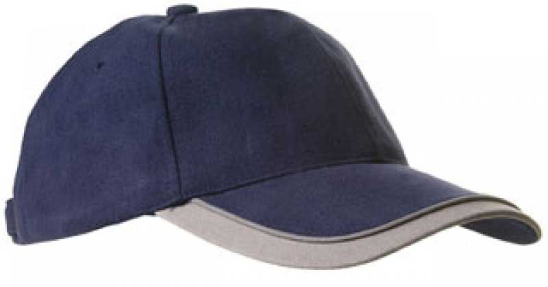 Double peak cap navy