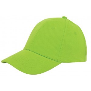 Brushed twill cap limegroen