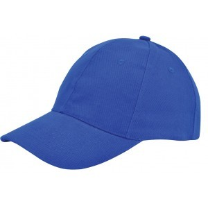 Brushed twill cap  royal blue
