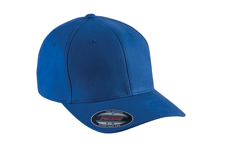 Flexfit premium Baseball cap 6 panelen royal blue