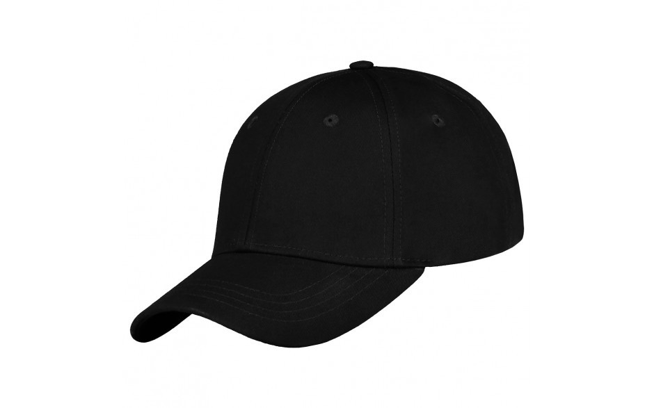 Luxe medium profile cap zwart